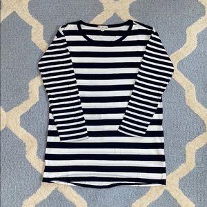 Striped Quarter Length Shirt